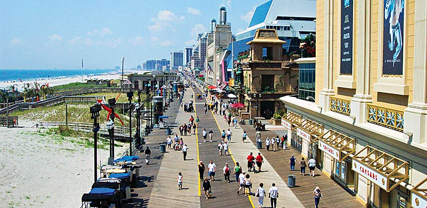 Atlantic City's world-famous Boardwalk.