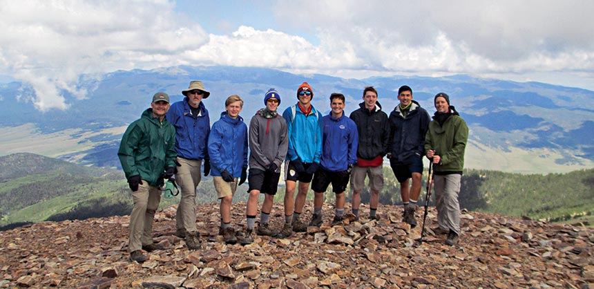 Margraf and his Scout crew at the 12,441-foot summit of Baldy Mountain. Credit: Joe Margraf