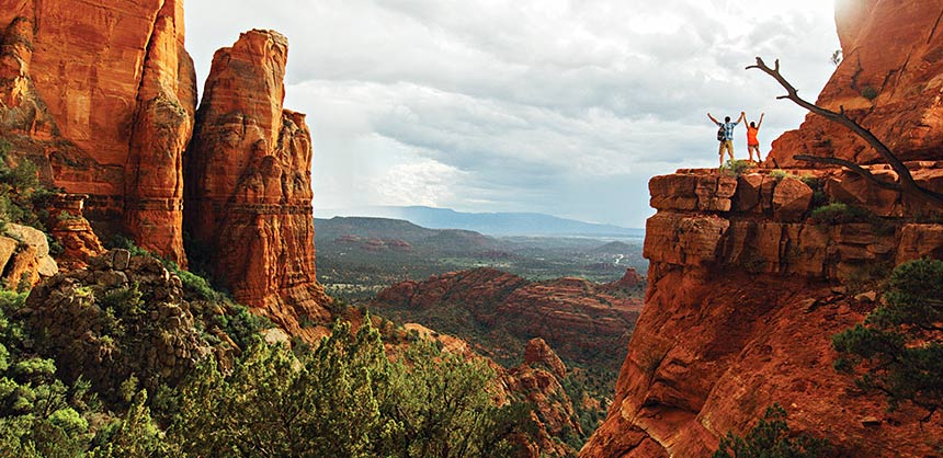 It doesn't get much more inspirational than Sedona's breathtaking red rock country. Credit: Sedona Chamber of Commerce & Tourism Bureau