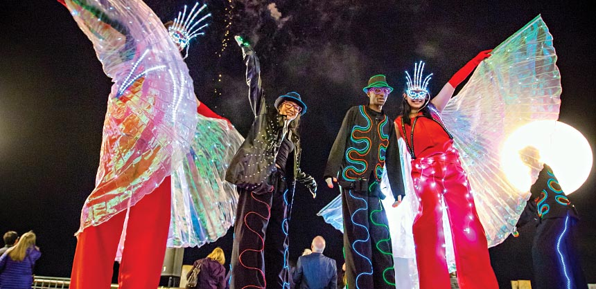 A cast of colorful characters lights up the Crescent City. Credit: Hosts New Orleans