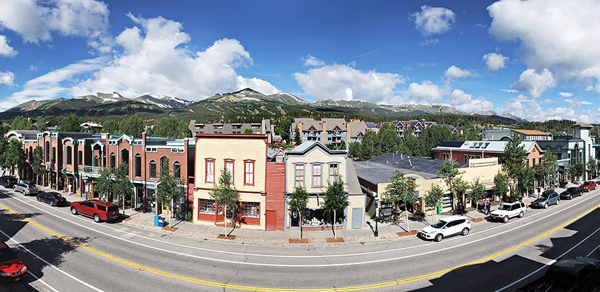 Spring and summer offseason activities in the ski resort town of Breckenridge, Colorado, include scenic ski-lift rides, hiking, biking and zip lining. Credit: Breckenridge Ski Resort