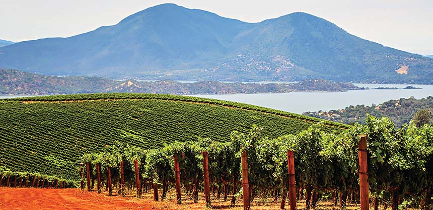 Dramatic views from Shannon Ridge Family of Wines' vineyard in Lake County. Credit: Nathan DeHart Photography