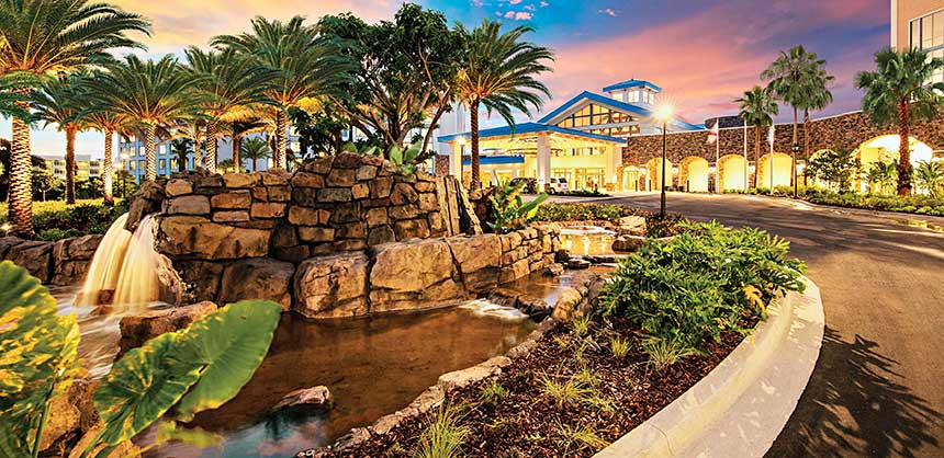Loews Sapphire Falls Resort at Universal Orlando, inspired by the Caribbean, features 115,000 sf of meeting space. Credit: Loews Sapphire Falls Resort