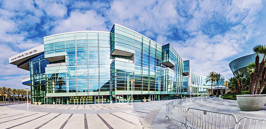 The Anaheim Convention Center's expansion — to  1.8 million sf — makes it the largest convention center on the West Coast. Credit: Visit Anaheim
