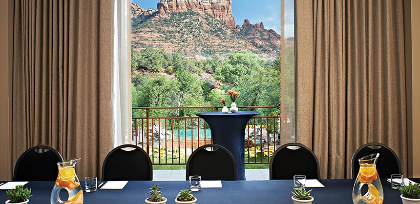 Meeting with a view at Kimpton Amara Resort and Spa, Sedona, Arizona.
