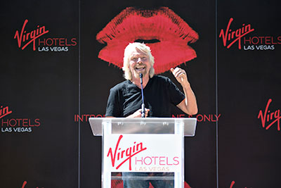 Sir Ricard Branson announces purchase of Hard Rock Las Vegas.