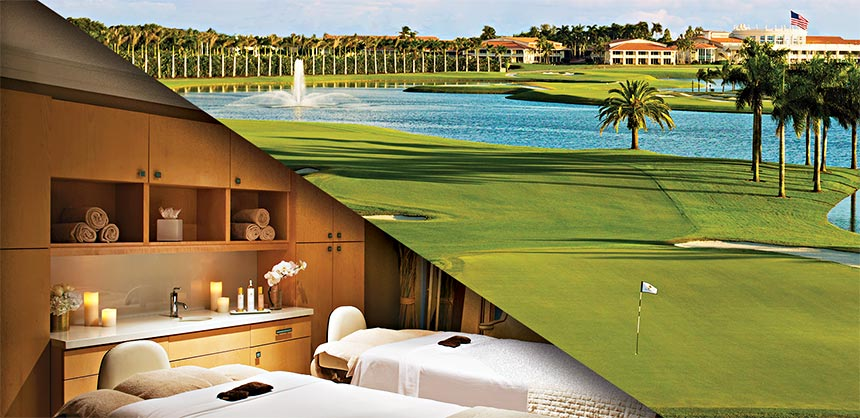 Trump National Doral Miami boasts the famed Blue Monster course and the Trump Spa Miami. Credits: Trump National Doral Miami