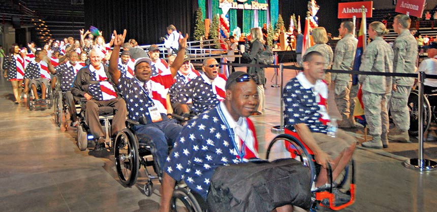 Athletes at the 29th National Veterans Wheelchair Games in Spokane, Washington. Credit: Christopher Anderson