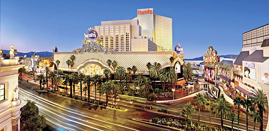 Harrah's is a popular resort for many meeting planners, whether it be the Las Vegas location (shown) or the Lake Tahoe property.  Credit: Caesars Entertainment