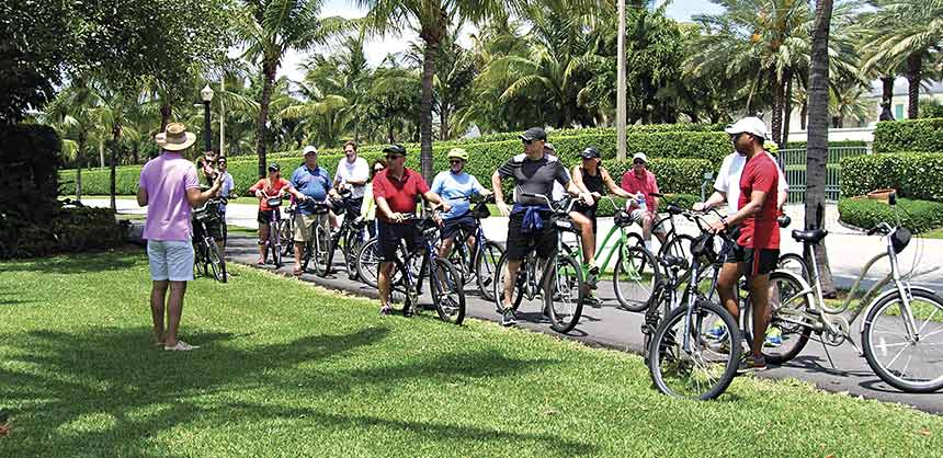 Paragon Events in Delray Beach, Florida, organized a bike tour around historic Palm Beach.