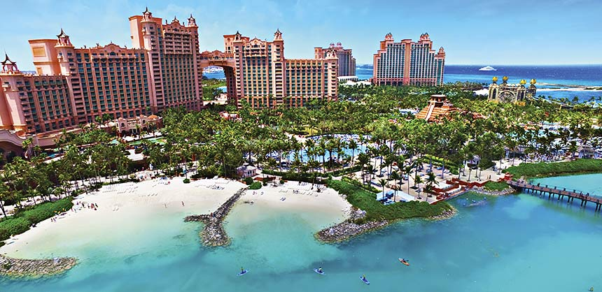 Atlantis, Paradise Island is the largest meeting resort in  The Bahamas, comparable to the best Vegas meeting hotels. Credit: David WJ Lee
