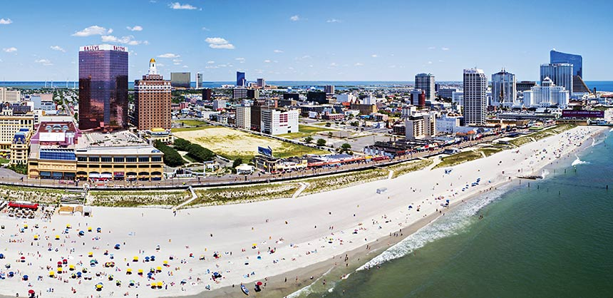 Aerial panorama Atlantic City NJ