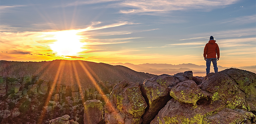 Arizona offers countless beautiful scenes, such as this winter sunset in the Chiricahua National Monument, located 120 miles southeast of Tucson.