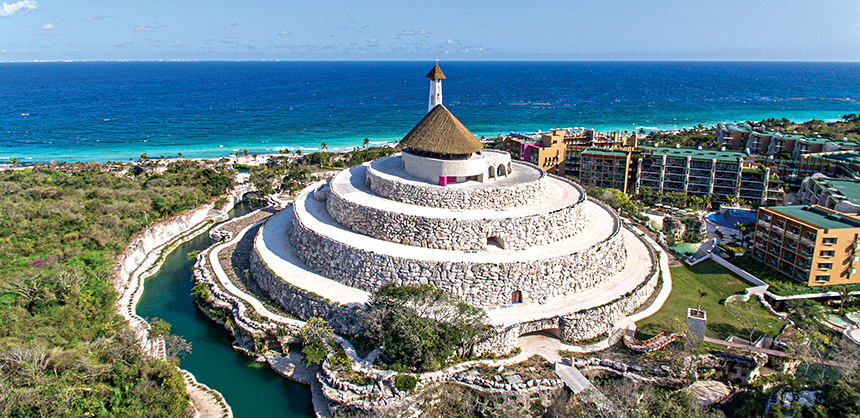 Hotel Xcaret México has a nearly 13,000-sf Convention Center, and its Xpiral Room covers nearly 19,000 sf.