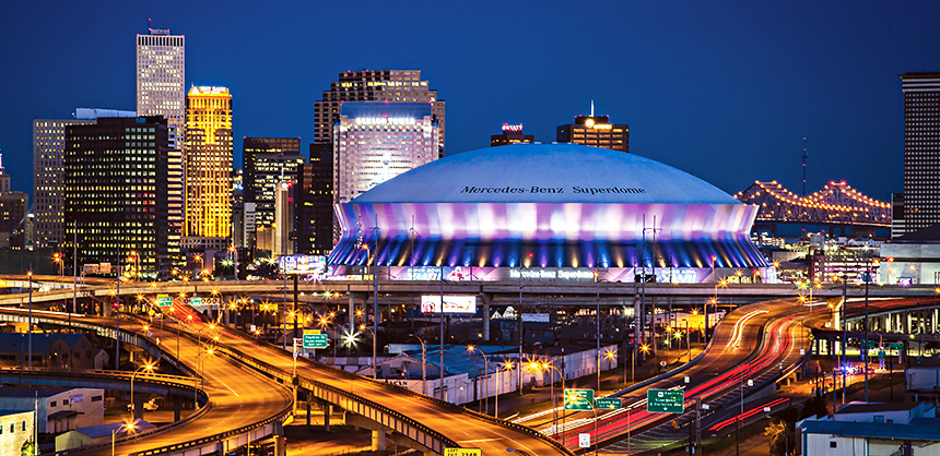 This is the Mercedes-Benz Superdome in New Orleans on February 3, 2013.