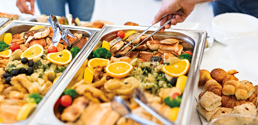 Catering event buffet concept.