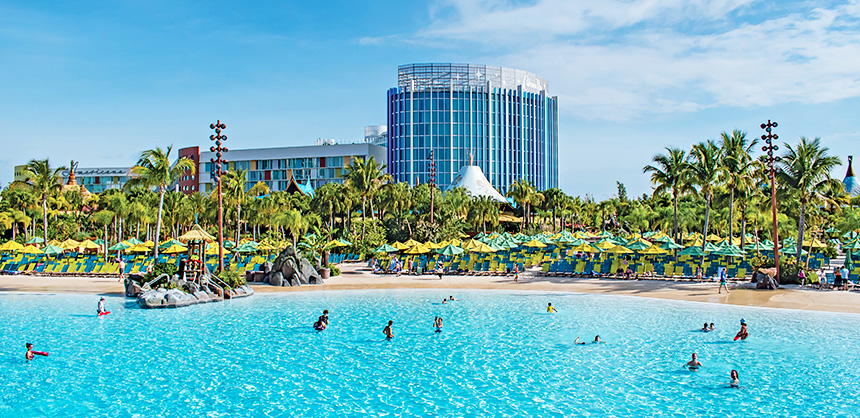 Universal Orlando Resort's Cabana Bay Beach Resort features Waturi Beach  and other activities for attendees, and their families, to enjoy. Florida offers hundreds of various venues delivering something for any taste.
