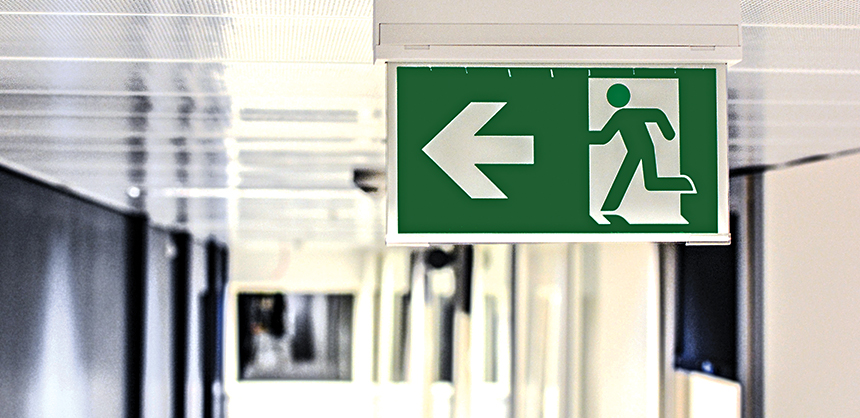 To be prepared for a crisis, something as simple as coordinating with the venue to be sure attendees know where the emergency exits are is vitally important. Image by monicore from Pixabay