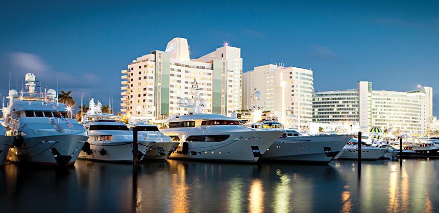 Docks on Intracoastal Waterway, Miami Beach