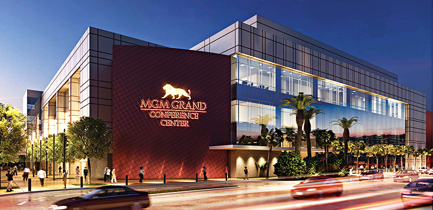 MGM Resorts officials are looking forward to reopening the 380,000-sf MGM Grand Conference Center.