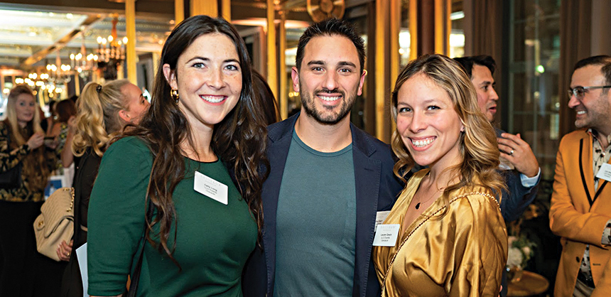 L-R: Carly Long, Paul Grech and Lauren Grech, of LLG Events & LLG Agency, at Bridelux Symposium. Lauren Grech says the best team-building events help the community. Photo Courtesy Lauren Grech