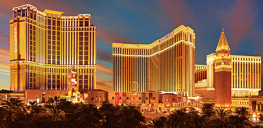 The Venetian Resort offers a total of 2.25 million sf of space, perfect for meeting planners. They also have unique spaces such as 10 outdoor poolside options and four theaters. Entertainment options include gondola rides; live music; an assortment of nightclubs, including TAO Nightclub, and more.