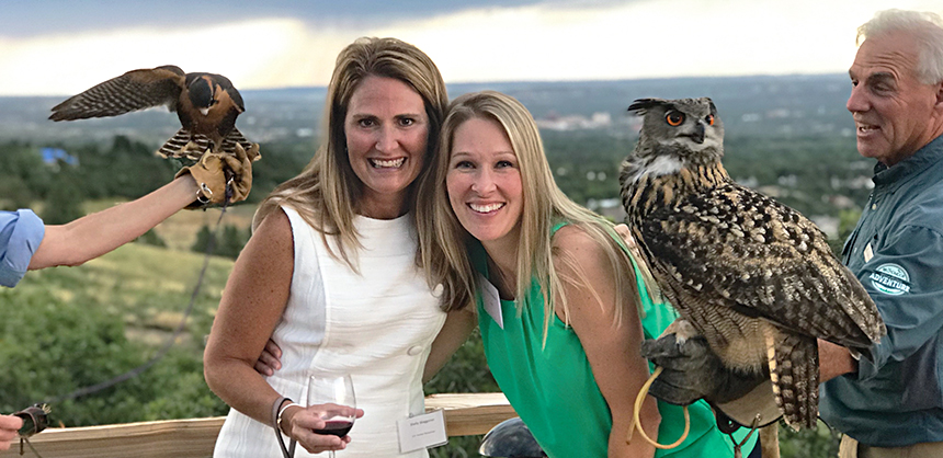 The Broadmoor offered plenty of activities, such as demonstrations on falconry and other game birds, for attendees of COPIC Insurance's annual sales meeting/recognition program for agents and team members.