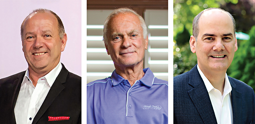 From left: Steve Enselein, Hyatt Hotels Corporation; Harris Rosen, Rosen Hotels & Resorts; Dan Surette, Omni Hotels & Resorts