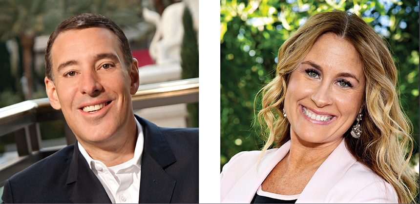 From Left: Michael Massari, Caesars Entertainment; Stephanie Glanzer, MGM Resorts International