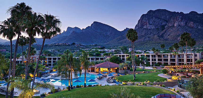 El Conquistador Tucson, A Hilton Resort, is nestled in the Sonoran Desert, offering spectacular views of Pusch Ridge and plenty of outdoor activities at Sabino Canyon and Saguaro National Park.
