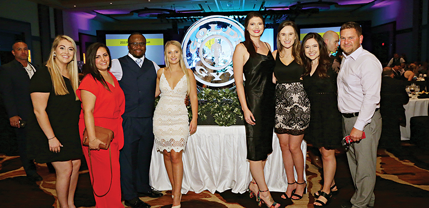 """Attendees at the Gold's Gym international annual convention enjoyed the many amenities at Red Rock Casino Resort & Spa. Bridget Sypolt, CMM, director of meetings and vendor relations, says Red Rock is a """"terrific venue."""" Courtesy of Bridget Sypolt"""