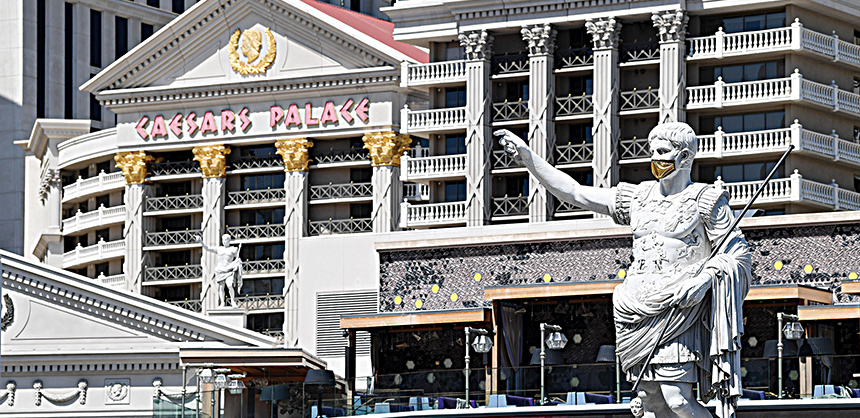 Caesars Palace and Flamingo  Re-Opening at Covid- 19 June 4 2020 Photos By Denise Truscello