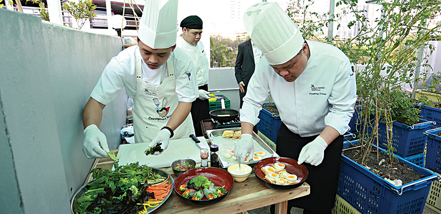 Chefs say presentation is atop the list when working at an event. Also high on the list is using locally sourced food and vegetables, which is better to give attendees a taste of local cuisine. Courtesy of Daniel Bucher