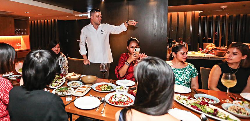 Daniel Bucher, executive senior sous chef at Bangkok Marriott Marquis Queen's Park, relies on his client's vision for menus.
