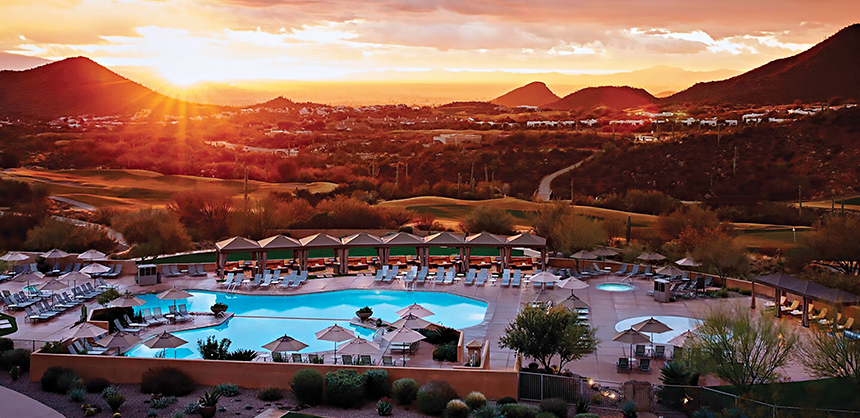 JW Marriott Tucson Starr Pass Resort offers 80,768 sf of event space, including the 19,836-sf Arizona Ballroom.