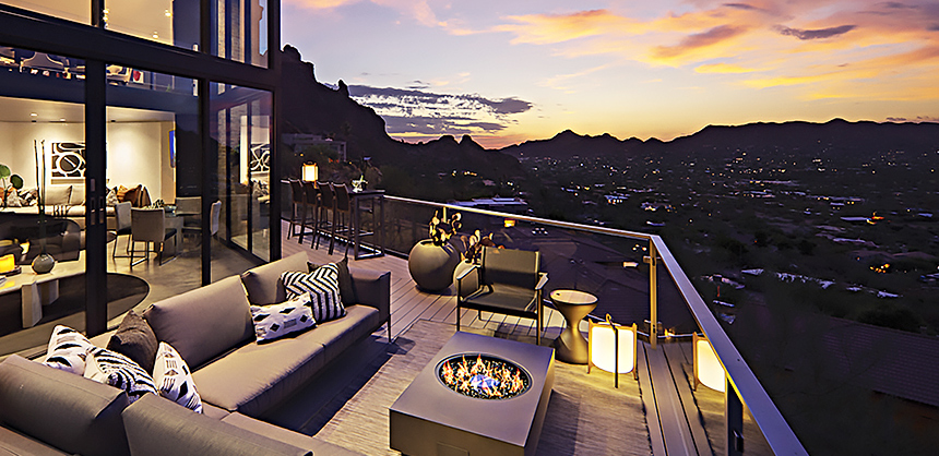 Sanctuary Camelback Mountain Resort offers spectacular views of Paradise Valley.