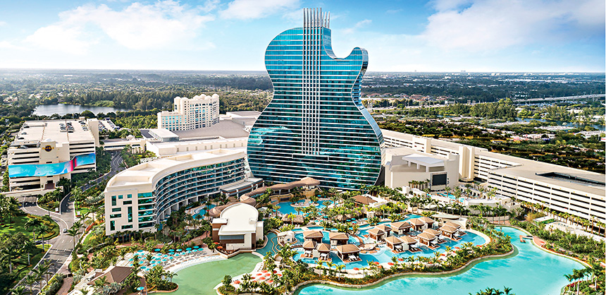 The Seminole Hard Rock Hotel & Casino Hollywood offers gambling, shopping, swimming, fine dining, live entertainment and more.