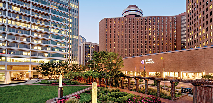 The Hyatt Regency Indianapolis has redesigned meeting and event spaces, and renovations to all restaurants, including the city's only revolving rooftop restaurant, The Eagle's Nest.