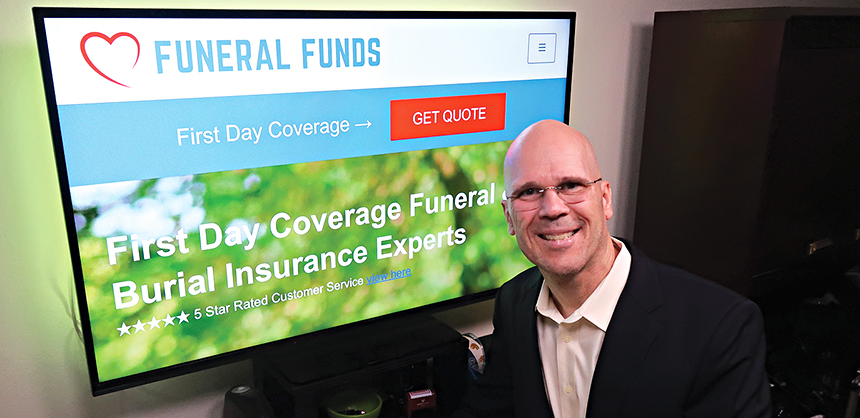 """Randy VanderVaate, president and owner of Funeral Funds, says the No. 1 thing on his list when working from home is making sure he has privacy. """"You will likely have many distractions during work hours."""""""