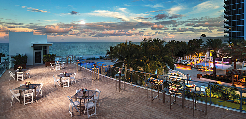 Nobu, a hotel-within-a-hotel at the Eden Roc on Miami Beach, has more than 70,000 sf of indoor and outdoor venues, with ballrooms ranging up to 7,850 sf.