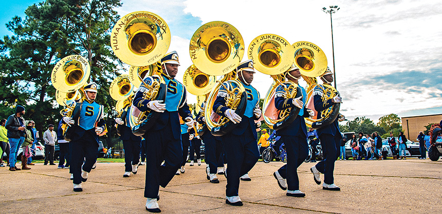 The Southern University 'Human Jukebox' performs in Baton Rouge.