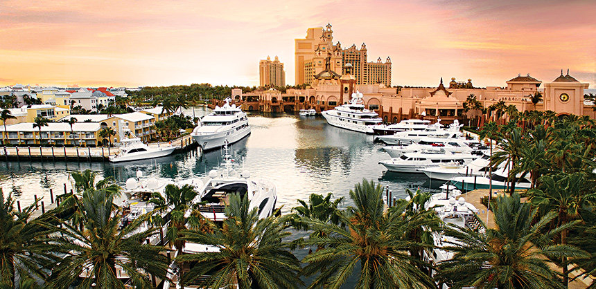 Atlantis, Paradise Island's Ocean Club Golf Course offers an 18-hole, par 72 championship course stretching 7,100+ yards.