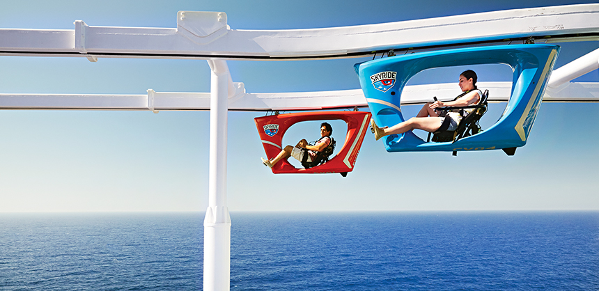 Carnival offers the SkyRide on its three Vista-class ships, which are Horizon, Vista and Panorama.