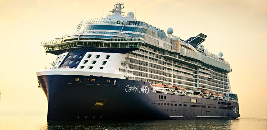 Celebrity Apex, AX, ship exterior, aerial, drone