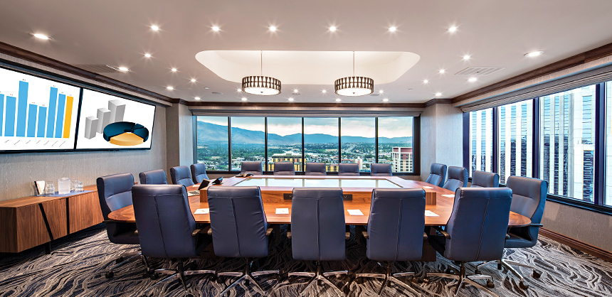 Eldorado Resort Casino at THE ROW in Reno offers fantastic views from its conference rooms.