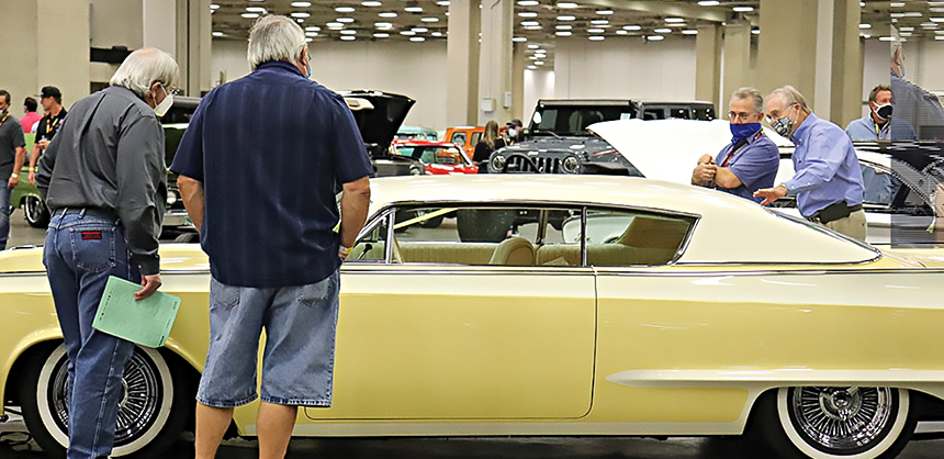The Kay Bailey Hutchison Convention Center Dallas hosted a Mecum Auto Auction in October. Attendees were required to wear masks, had temperature checks before entering and were required to socially distance. Photo courtesy of Visit Dallas