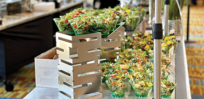 Meals and snacks at the PCMA Convening Leaders 2021 event were individually prepared and distributed also based on strict venue and CDC guidelines. Photo courtesy of Kelly Cavers