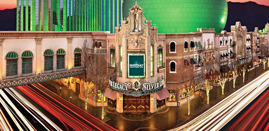 Silver Legacy Resort Casino, pictured, Eldorado Resort Casino and Circus Circus Resort Casino comprise THE ROW Reno.