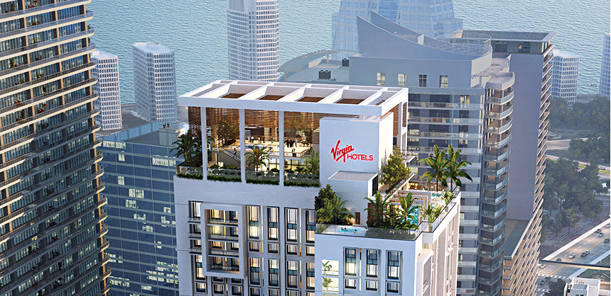 Virgin Hotels Miami is expected to open in 2023.