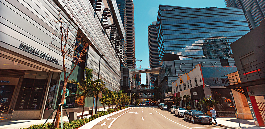 Brickell City Centre is the home for the international headquarters of major banks, corporations, real estate companies and law firms. Photo Courtesy of Greater Miami Convention and Visitors Bureau / MiamiAndBeaches.com